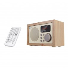 Wood Bluetooth Audio Loudspeaker Subwoofer Remote Control FM U-Disk TF Card BOOMBOX D50 Maple Pattern