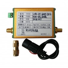 Wideband Low Noise Amplifiler 25M-6G 20dB DC 12V 0.15A Simple Spectrum Magnifier