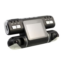 I4000 Car DVR Camera Camcorder Video Recorder Dual Lens HD G-Sensor Night Vision Monitor