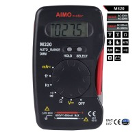 AIMO M320 Handheld LCD Digital Multimeter DMM Frequency Capacitance Tester with Data Hold Auto Range