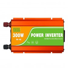 300W Pure Sine Wave Power Inverter 12V DC to AC Converter for Home Solar System Car