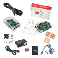 Raspberry Pi 3 Model B 1GB RAM Quad Core BCM2837 64bit Processor 1.2GHz CPU Starter Kit for DIY