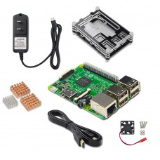 Raspberry Pi 3 Model B Main Board + Power Supply + HDMI Cable + Radiator + Shell DIY Kit