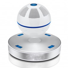 Magnetic Levitation Speaker Bluetooth 4.1 Wireless AUX Speaker Subwoofer NFC Sound Box White