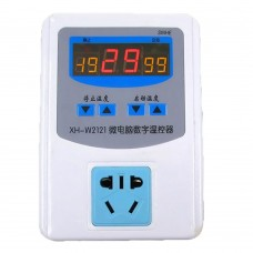 Microcomputer Digital Temperature Controller -19 to 99 C Temperature Control Switch Socket XH-W2121