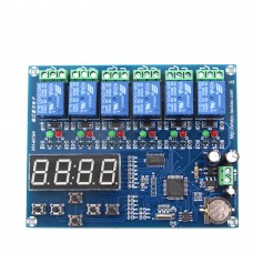 Time Relay Controller Module Timer 5 Channel Relay Control Board 12V XH-M194