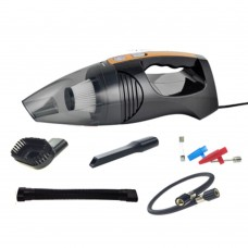 Car Vacuum Cleaner Aspirator 120W Inflator Wet And Dry Tire Pressure Gauge Pneumatic Lighting Black