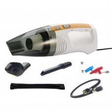 Car Vacuum Cleaner Aspirator 120W Inflator Wet And Dry Tire Pressure Gauge Pneumatic Lighting White