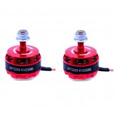 FPV 2205 Brushless Motor 2300KV CW CCW for QAV250 Quadcopter RC Drone Red 1Pair