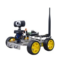 WIFI Smart Video Robot Car DIY Kit HD Camera Wireless Android IOS PC Control 51duino for Arduino
