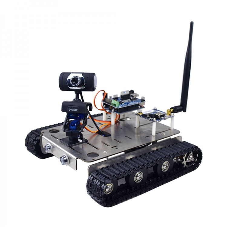 WIFI Smart Video Robot Car DIY Kit with Camera Wireless Android IOS