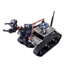 Intelligent Robot Car Robotic Vehicle DIY Kit with Mechanical Arm Camera Wifi Wireless Android IOS PC Control for Arduino