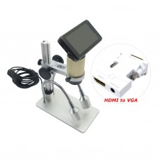 "Andonstar HDMI HD Microscope 3MP 1080P Digital Magnifier Loupe w/ 3"" Monitor VGA Adapter"
