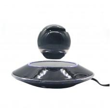 Wireless Speaker Bluetooth Floating Magnetic Levitating Speaker LED for Christmas Gift Black