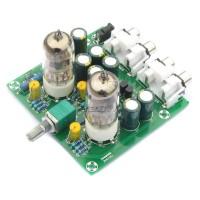 6J1 Valve Tube Preamp Amplifier Board 2.0 AC 12V 1A Buffer Headphone AMP DIY