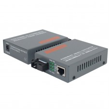 Fiber Optical Media Converter 10 100Mbps RJ45 Single Mode SC Port 25KM Media Converter HTB-3100AB 1Pair