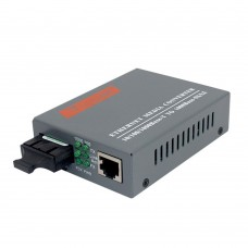 Gigabit Fiber Optical Ethernet Media Converter 1000Mbps Single Mode Single SC Port 20KM HTB-GS-03 A/B 1Pair