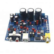 CS4398 DAC Decoder Module with USB Optical Fiber Input 24 192K Board for Audio Assembled