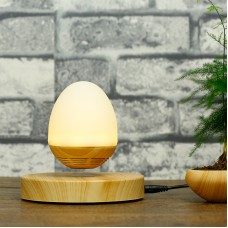 Magnetic Levitation Speaker Wireless Bluetooth Floating Audio Player Wood Base with Night Light for Gift