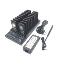 Restaurant 20 Pagers DC 12V Power Supply Coaster Pagers Wireless Coaster Guest Waiter Queuing System
