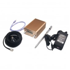 5W 15W PLL Stereo FM Transmitter Radio Station Wireless Broadcast Station 87 to 108MHz with Antenna Power Adapter