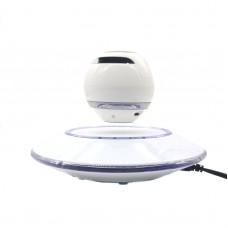Wireless Speaker Bluetooth Floating Magnetic Levitating Speaker LED for Christmas Gift White