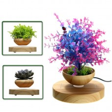 Magnetic Levitation Potted Plant Floating Decoration Green Miniascape Bonsai for Gift Ornaments DIY