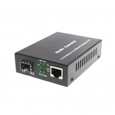 Fiber Ethernet Media Converter Gigabit Single Mode Double Fiber LC Interface with SFP Module