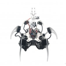 20DOF Aluminium Hexapod Robotic Spider Robot Frame Kit with 20pcs MG996R Servo & Control Board Silver