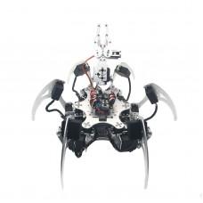 Assembled 20DOF Aluminium Hexapod Robotic Spider Six Legs Robot with Claw & LD-1501 Servos & Controller Silver