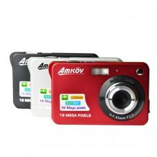 Amkov CDC3 Camera 2.7 Inch LCD HD 18MP CMOS 3.0MP Anti Shake Digital Video Cam with 8X Digital Zoom