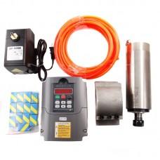 CNC 2.2KW Spindle Motor + Frequency Inverter + Mount + ER20 Collet + Water Pump
