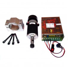 Spindle Motor 300W Air Cooling E240 with Speed Controller Mount Collet for CNC Engraving Machine DIY