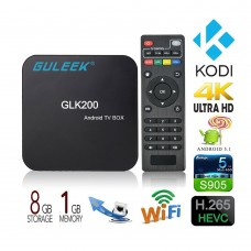 GLK200 Android 5.1 TV BOX Streaming Media Player DDR3 1G+8G Amlogic S905 4K Quad Core Set Top Box