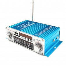 Kentiger HY-602 Audio Amplifier Wireless HiFi Stereo with FM IR Control FM MP3 USB Playback Blue