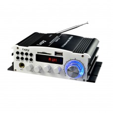 Lepy LP-K1 Audio Power Amplifier 15W+15W DChannel Support Karaoke FM USB SD Card