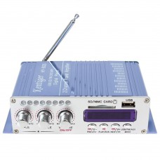 HY502 HiFi Stereo Power Amplifier USB MP3 DVD CD FM SD Playing for Motorcycle Auto Audio Music Player Blue