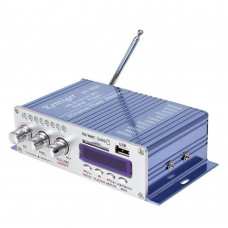 Kentiger HY-603 HiFi Stereo Power Audio Amplifier with FM IR Control FM MP3 USB Playback Blue