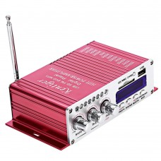 Kentiger HY-603 Power Digital Audio Amplifier HiFi Stereo with FM IR Control FM MP3 USB Playback Red