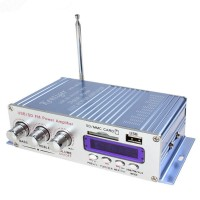 HY400 HiFi Digital Car Stereo Power Amplifier Audio Music Player Support USB MP3 DVD CD FM SD Blue