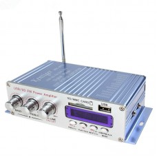 HY400 HiFi Digital Car Stereo Power Amplifier Audio Music Player Support USB MP3 DVD CD FM SD Blue