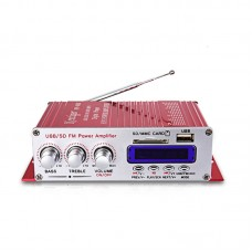 HY400 HiFi Digital Car Stereo Power Amplifier Audio Music Player Support USB MP3 DVD CD FM SD Red