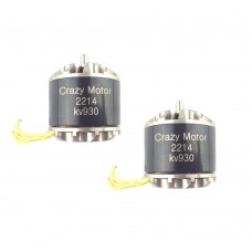 CrazyMotor 2214 Brushless Motor 930KV CW CCW for FPV Racing Drone F450 Quadcopter 1Pair