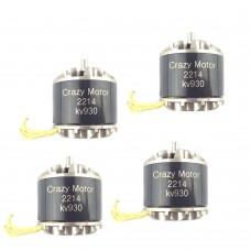 CrazyMotor 2214 Brushless Motor 930KV CW CCW for FPV Racing Drone F450 Quadcopter 4Pcs