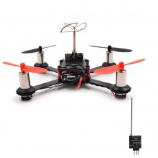 QX110 110mm FPV Racing Drone 4 Axis Quadcopter Carbon Fiber with F3 Flight Controller Camera R6DSM Receiver