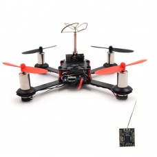 QX110 110mm FPV Racing Drone 4 Axis Quadcopter Carbon Fiber with F3 Flight Controller Camera FS Receiver