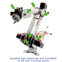 6DOF Mechanical Robotic Arm Clamp with Servos DIY Kit for Robot Smart Car Arduino SCM Unassembled