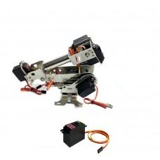 6DOF Mechanical Robot Arm Manipulator Arm with Servo for Robotics Arduino Raspberry Assembled