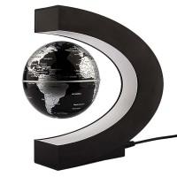 C Shape LED World Map Magnetic Levitation Floating Globe Antigravity Light Gift Decoration