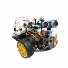 Intelligent Car Robot Kit with Arduino UNO Controller R3 Tracking Obstacle Avoidance Ultrasonic Module DIY